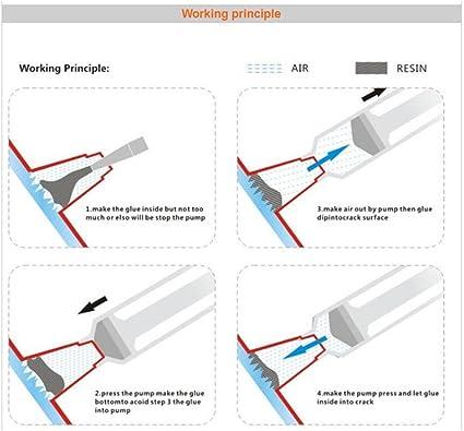 Kit di Riparazione Parabrezza Crepe Sistema di Riparazione vetri Auto//Kit di Riparazione Parabrezza Fai da Te//Riparazione vetri Auto Strumenti di lucidatura per Chip Scratch Restore