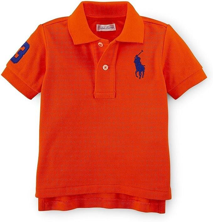 Ralph Lauren – Big Pony – Polo de algodón camiseta, vela naranja ...