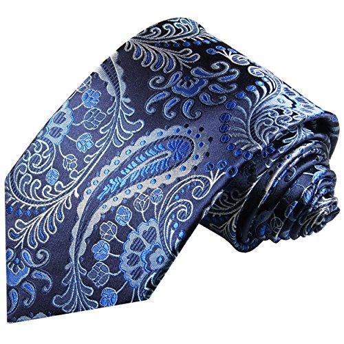 Cravate homme noir bleu paisley 100% cravate en soie ( longueur 165cm )