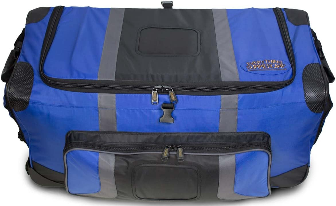 Pop Up Soft Trunk for Camp Rolling Travel Duffle Bag CN-PUST3 30 x 14.5 x 15.5 Inches Blue