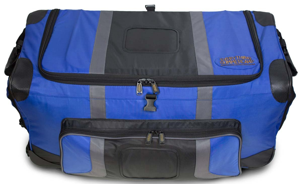 Pop Up Soft Trunk for Camp   Rolling Travel Duffle Bag   #CN-PUST3   30 x 14.5 x 15.5 Inches (Blue)
