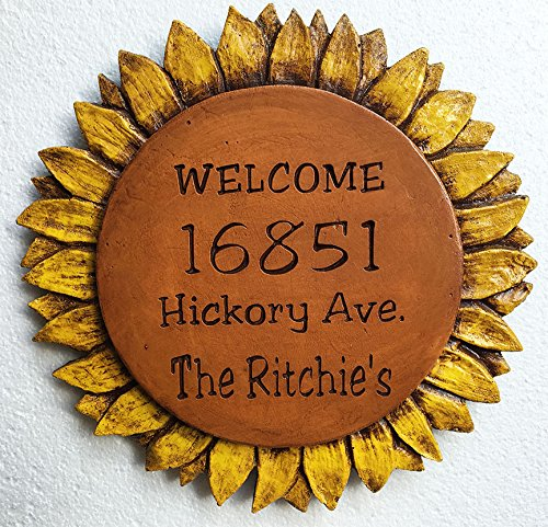 Sunflower Home Address Sign
