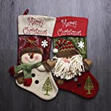 "Tolin Set of 2 17"" Knitting Christmas Stockings"