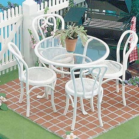 Terrific Dollhouse Miniature 5 Pc Patio Table Chairs Set Download Free Architecture Designs Scobabritishbridgeorg