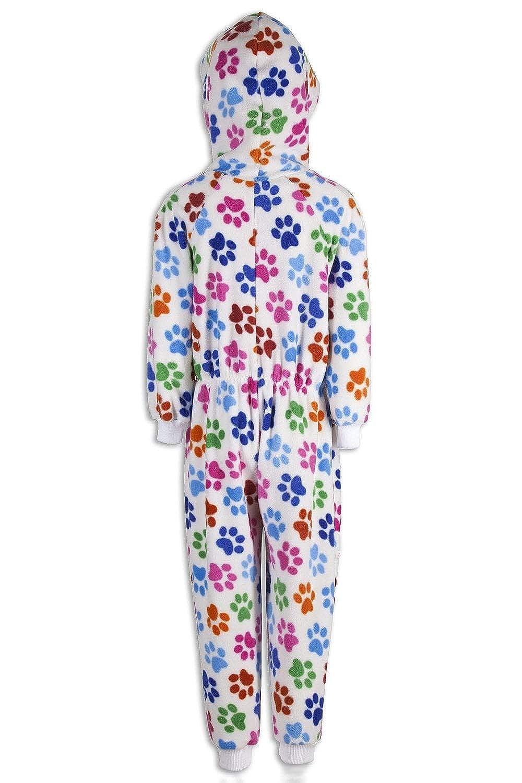 Camille - Pijama Infantil de una Pieza - Estampado de Huellas de Perro Blanco: Amazon.es: Ropa y accesorios