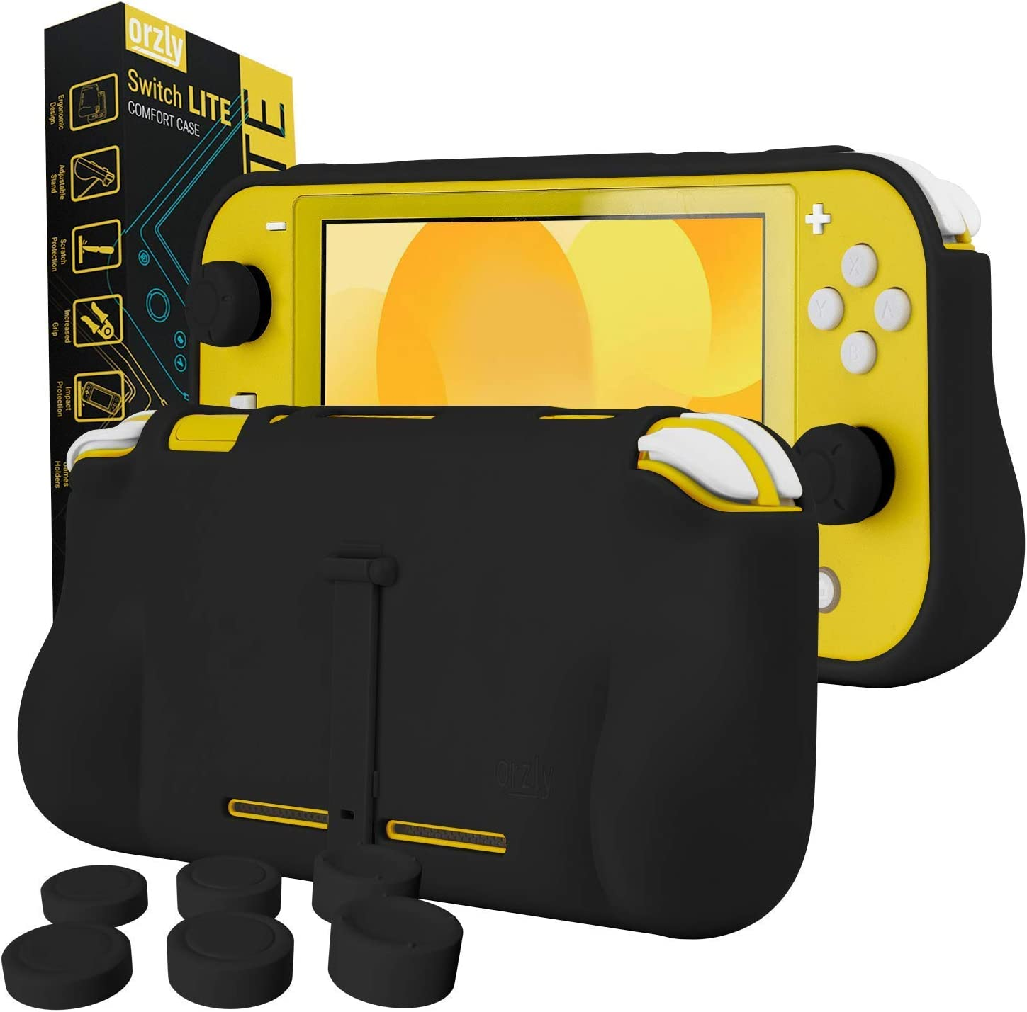 Xiaoa Switch Lite Host Two in One TPU Protective Shell with Stand Can Accommodate 2 Game Card Protectors