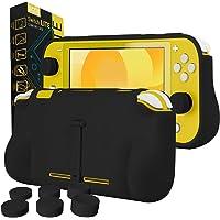 Orzly - Konsolfodral för Nintendo Switch Lite – fodral med bekvämt vadderade handgrepp, stöd, paket med tumgrepp.