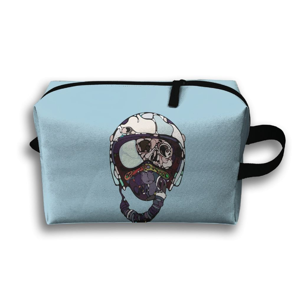 Unisex Funny Dead Cartoon Pilot Design Travel Bags Carry Storage Luggage Handbags
