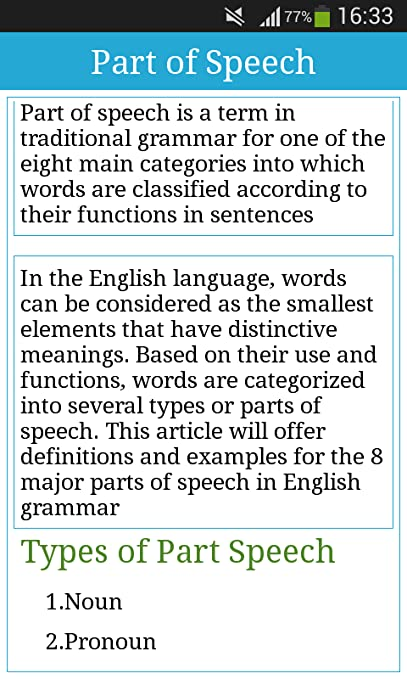 what part of speech is into