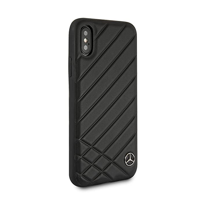 a9cbf2f4b85 Mercedes-Benz iPhone X & iPhone XS - by CG Mobile - Black Cell Phone Case  Genuine Leather | Easily Accessible Ports | Officially Licensed.