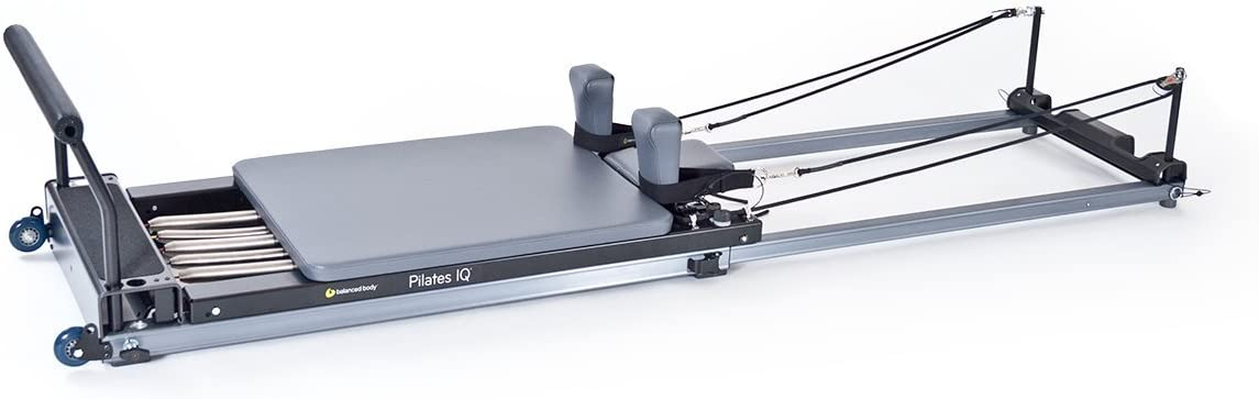 balanced body Pilates IQ Reformer, with Wheelbarrow Wheels