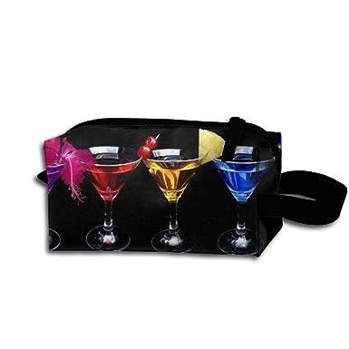 Amazon.com: Maquillaje bolsa de cosméticos cocktail-with ...