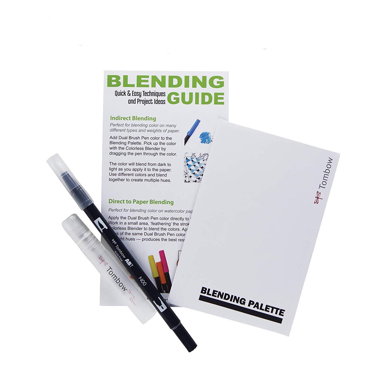 Tombow brush pen blending countertop sink and unit