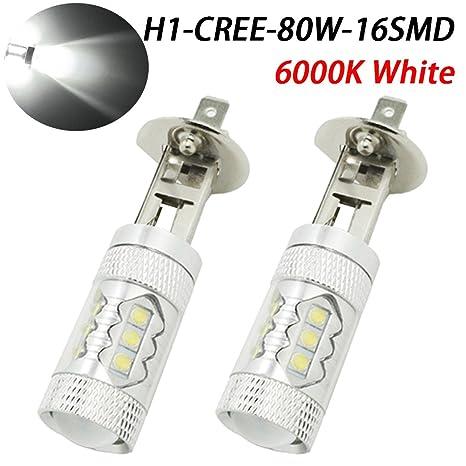 taben extremadamente brillante Max 80 W de alta potencia H1 LED Niebla Bombillas Para DRL o