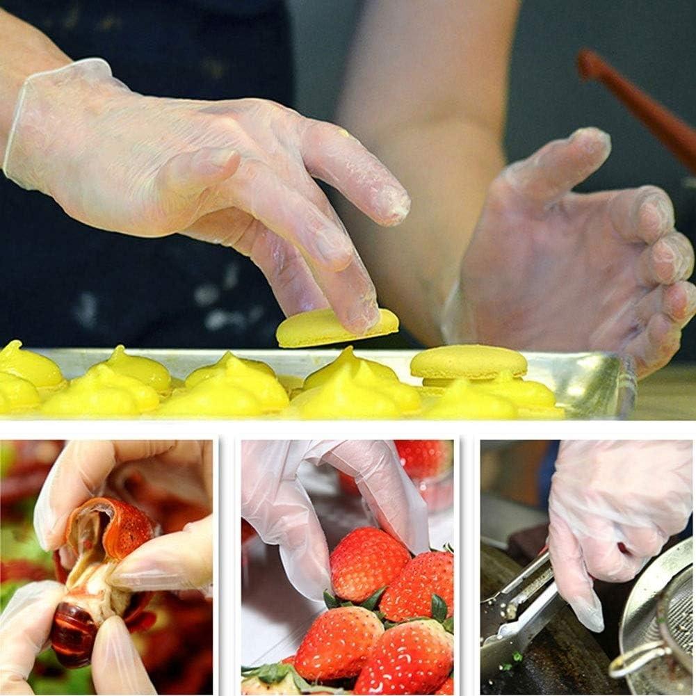 Rockyin Guantes desechables de 100 piezas de cocina de calidad alimentaria Medio CPE