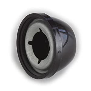 Palnut Fasteners 138264000 (KPS625210SOHEB) Palnut Decorative Push-ons, Plastic Cap for 5/8 Stud, OD 1.30 Height .645, Plastic, Black (Pack of 10)