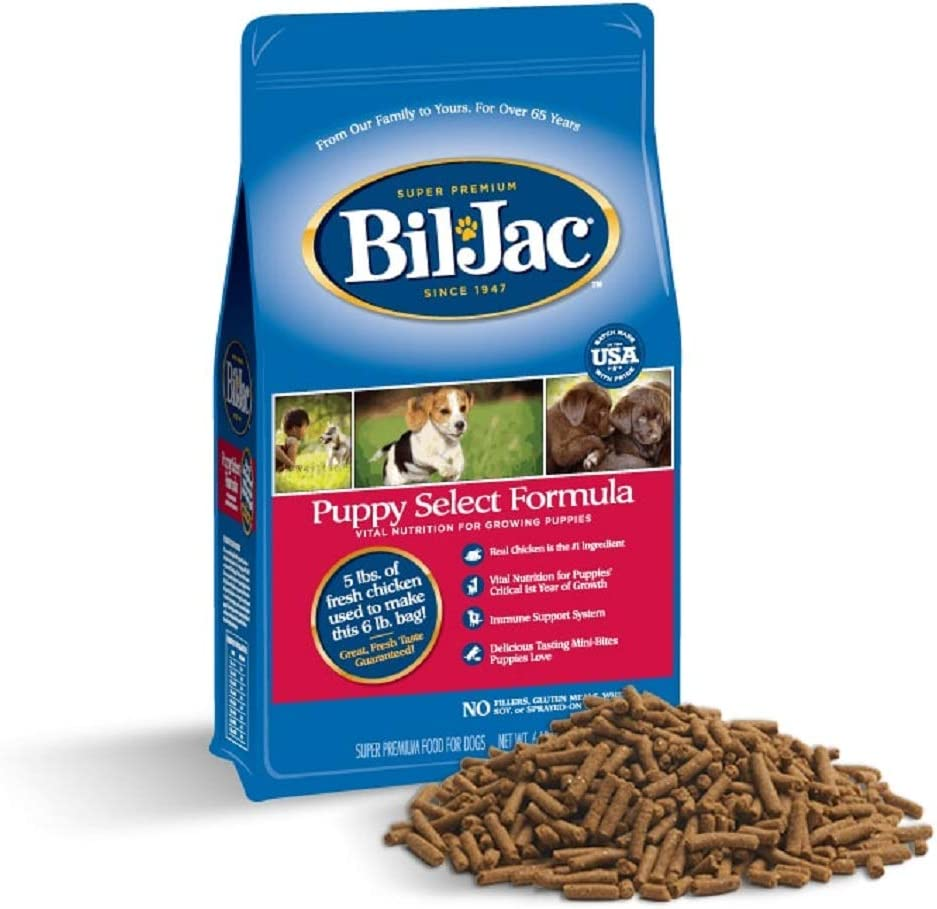 Bil-Jac Puppy Food Dry Dog Food Select Formula Small or Large Breed 6 lb Bag - Super Premium Since 1947 (2-Pack)
