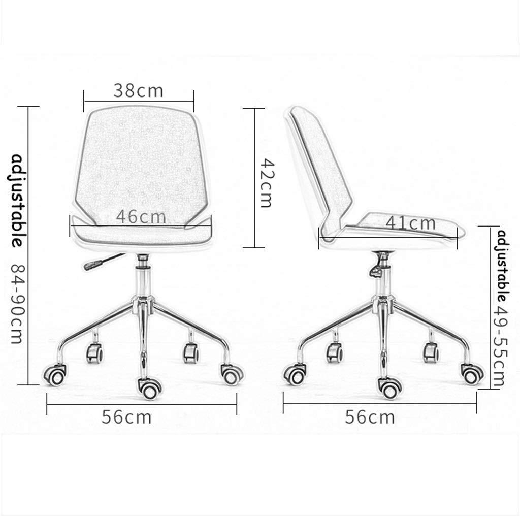 JIEER-C Ergonomisk stol skrivbordsstolar matsal/kontor svängbar stol läder justerbara stålben med fälgar och hiss - val av färger Brun
