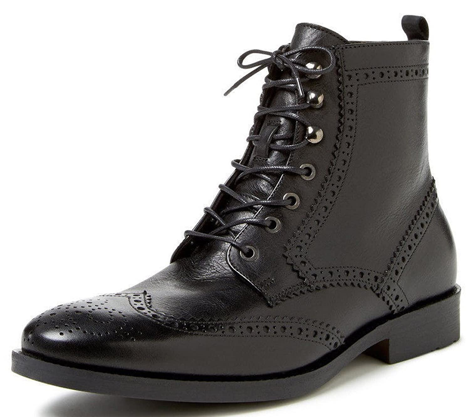 a.testoni BASIC Brougued Linz Calf Wingtip Boots Size 9 US