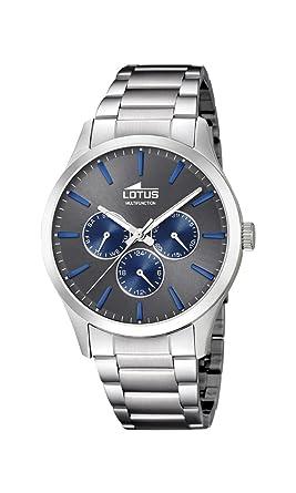 Lotus Watches Reloj Multiesfera para Hombre de Cuarzo con Correa en Acero Inoxidable 18575/3: Amazon.es: Relojes