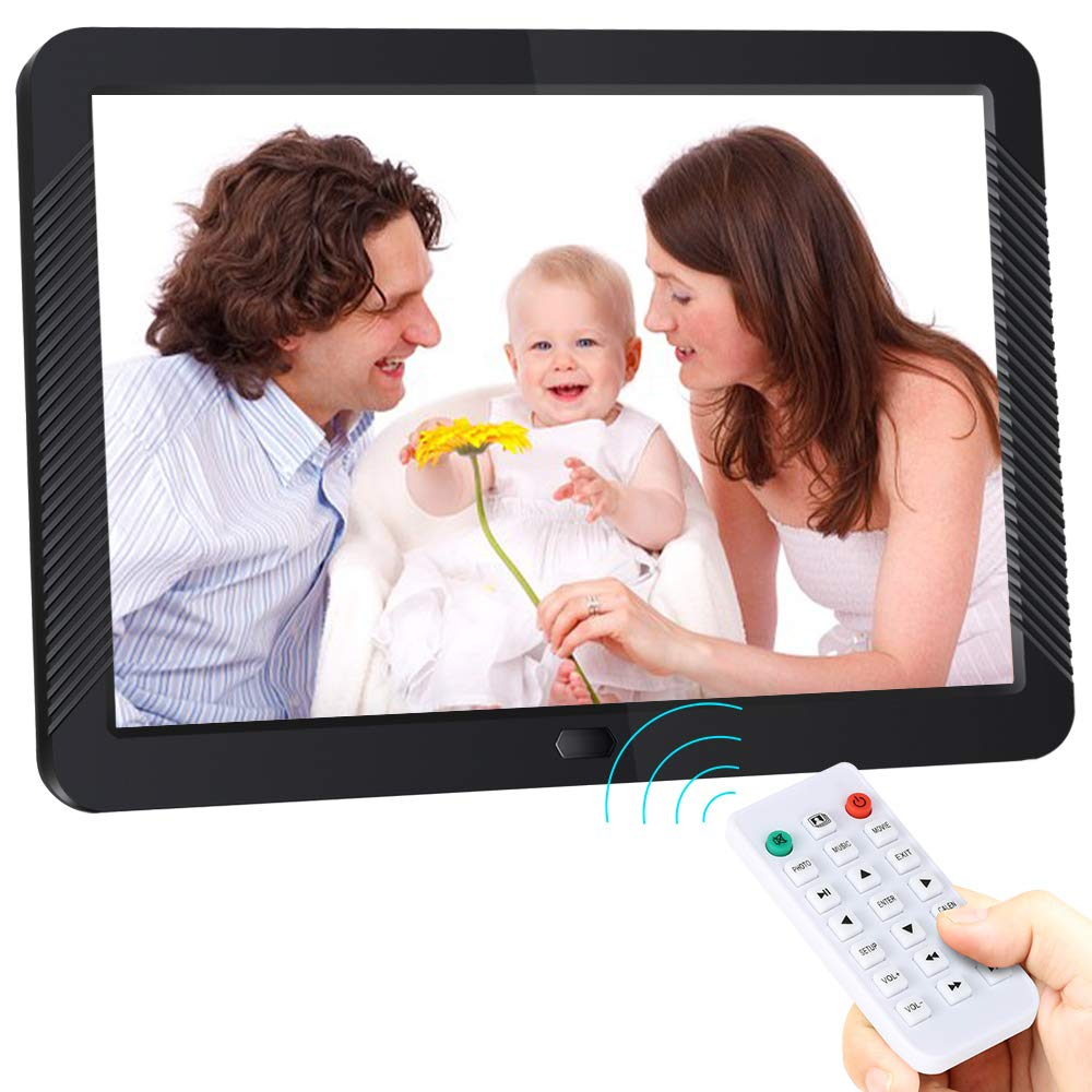 Digital Picture Frame 8 Inch Digital Photo Frame HD 1920X1080P with Remote Control 16:9 IPS Display Electronic Auto Slideshow Zoom Image Stereo Video Music Player Support USB SD Card 180° View Angle