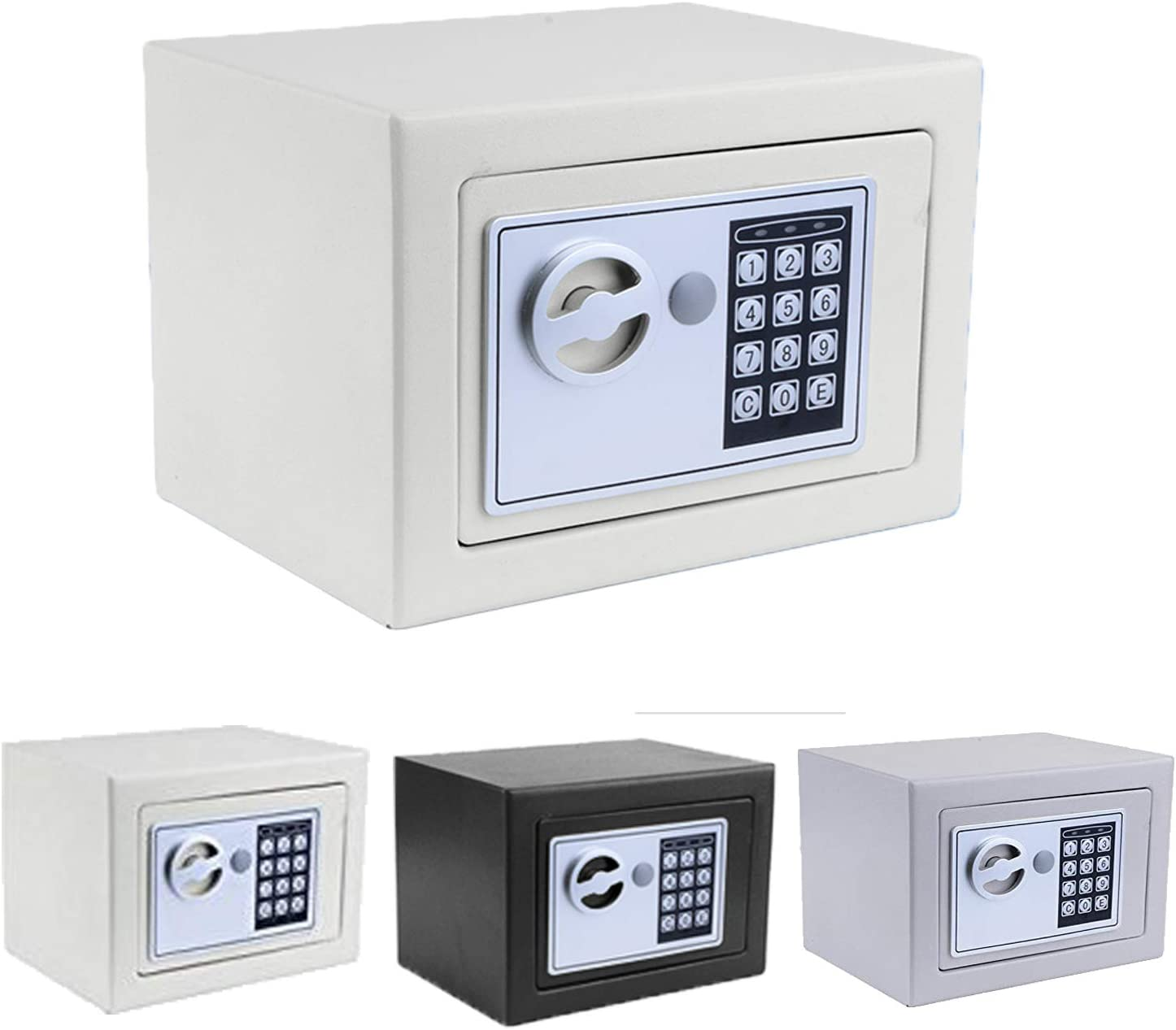 Digital Security Safe Box, Safety Boxes Safes and Lock Boxes for Home Office Hotel Jewelry Gun Cash Storage with Electronic Lock