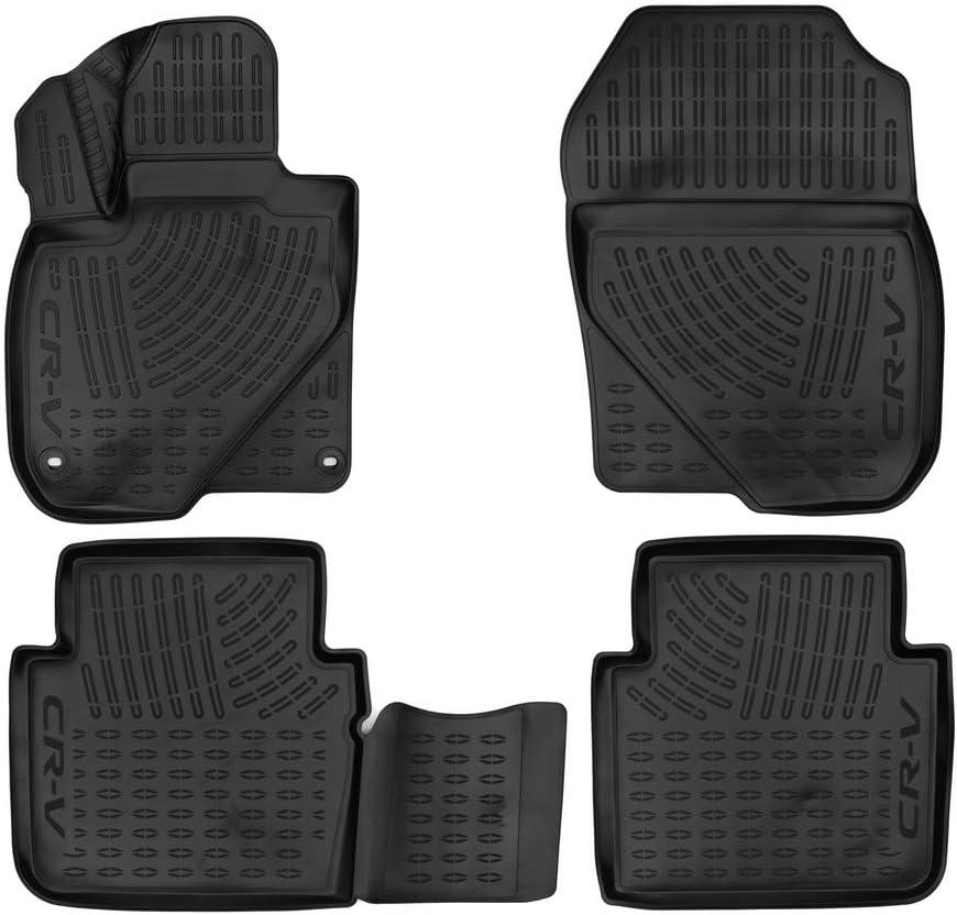 Element Exp Aoy00003 Passgenaue Premium Antirutsch Gummi Fußmatten Honda Cr V Jahr 17 20 Schwarz Auto