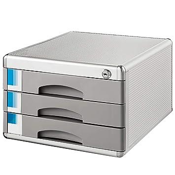 Archivadores con espiral Gabinete de archivos de escritorio Gabinete de datos A4 caja de almacenamiento de