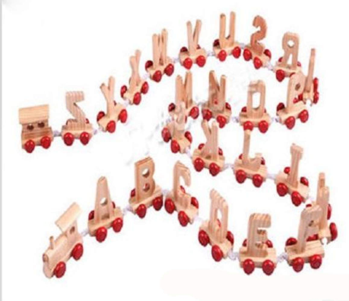 e-shop2door Personalised Wooden Alphabet Letter Train A-Z Name Set Toy Learning 3 Letters