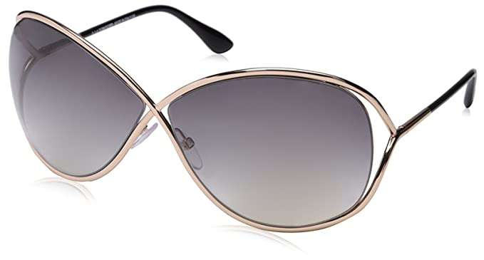 1ff52fdef6 Image Unavailable. Image not available for. Colour  Tom Ford Women s  Gradient Miranda FT0130-28B-68 Rose Gold Butterfly Sunglasses