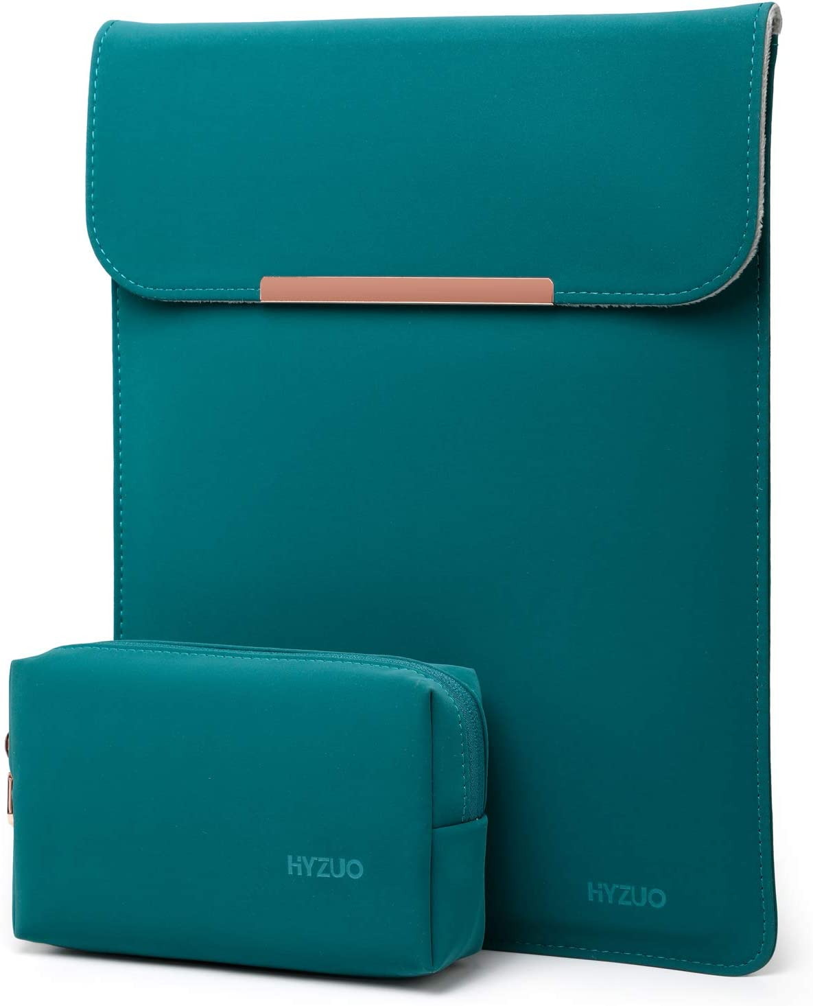 HYZUO 15-16 Inch Laptop Sleeve Case Compatible with 2019 MacBook Pro 16 A2141/ Surface Laptop 3 15 Inch/Dell XPS 15/2012-2015 Old MacBook Pro Retina 15 A1398, Dark Green