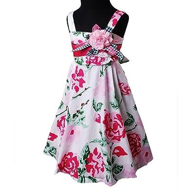D333 Bonny Billy Mädchen Gurt Saflor Prints Abend weiß kleiden Prom ...
