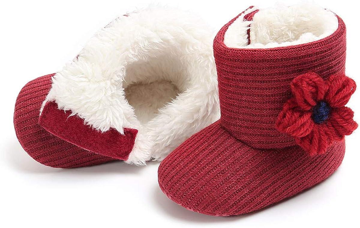 xhk 6-12 Months Red Greceen Winter Warm Baby Boots Premium Soft Sole Prewalker Newborn Infant Boy Girl Crib Shoes Snow Boots