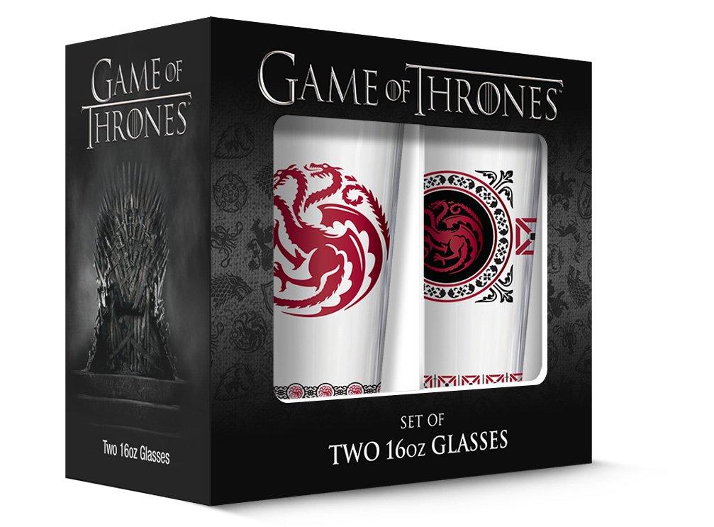 PB Licensing 2-Piece Game of Thrones Pub Glass Targaryen Set, 16 oz PB Licensing USA GD16027PB