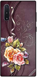 Case For Samsung Galaxy Note10 - Flowers & Butterflies Brown Cloth