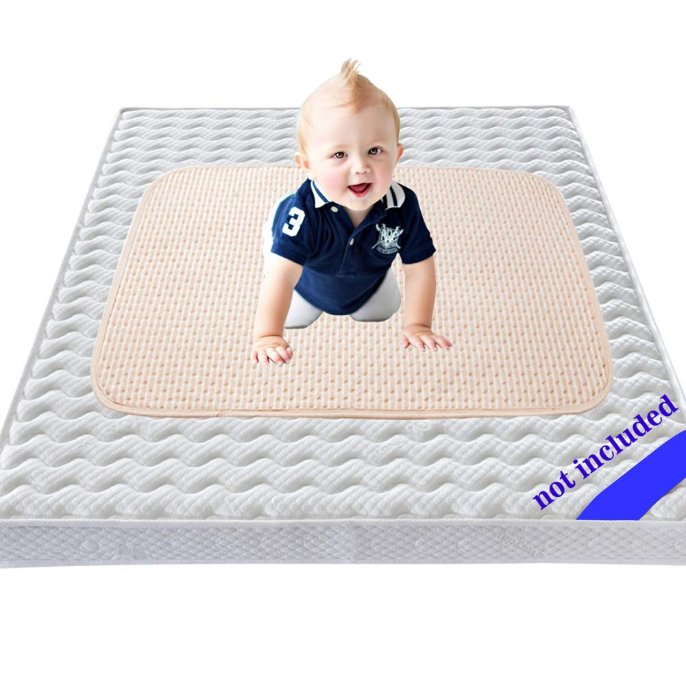 Baby Waterproof Bed Pad Kids Natural Organic Cotton Absorbent Mattress Toddler Bedwetting Mat Crib Pee Urine Pads Changing underpads Diaper for Incontinence Pet Elderly Menstruation Women 39.4'' 59'' by AiBuy