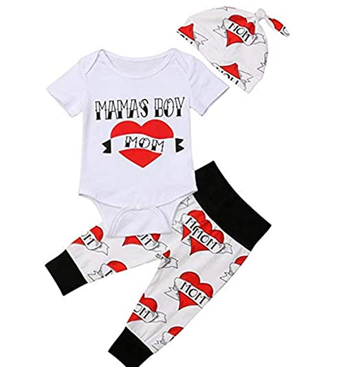 31f60d8089cd6 Amazon.com: Newborn Infant Baby Boy First Valentines Day Outfit ...
