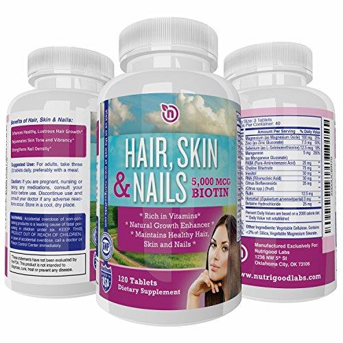 Hair, Skin and Nails + 5000 mcg Biotin