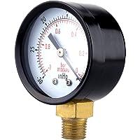 UEETEK Manómetro de presión de vacío para el