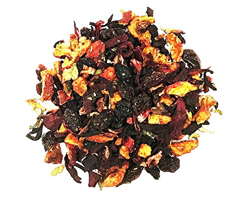 Blueberry Tea - Fruit Tea - 100% Natural - Decaffeinated - Loose Tea - 2oz 1 Decaffeinated Tea 100% Natural - Fresh - Very Berry - Tasty - Yummy - Delicious to Enjoy Hot or Iced A Mildly - Sweet - Malty Blueberry Flavor - Pulled from Black Berries and Blueberries Creating a Full Bodied - Fruity Richness