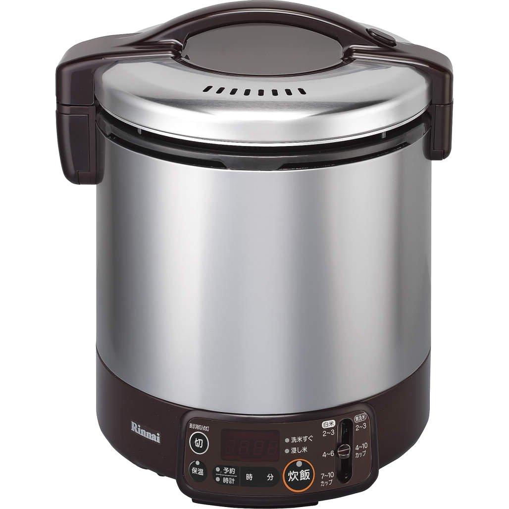リンナイ こがまる タイマージャー付きガス炊飯器 10合炊きダークブラウン都市ガス13A用 RR-100VMT(DB) 13A   B00NKABIYE