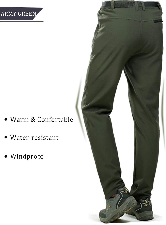 LHHMZ Hombre Acampada y Senderismo Pantalones Impermeables de Secado r/ápido de Lavado f/ácil Pantalones Casuales de Viaje Ligero al Aire Libre Transpirable