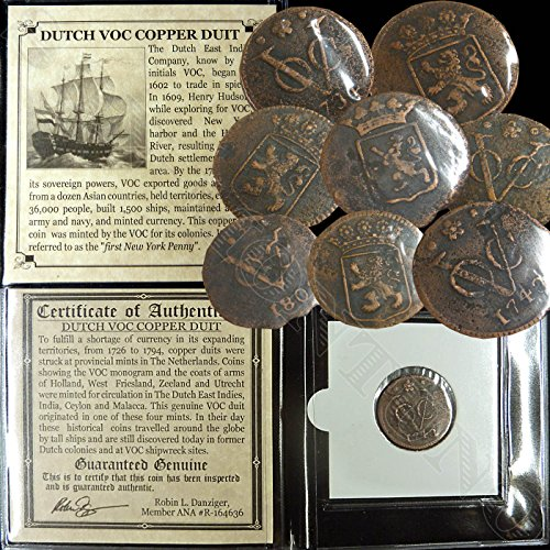 1726 NL 1726-1794 You get ONE DUTCH VOC COPPER DUIT Ship Coin East India Co. 1ST New York Penny - APPEARS TO BE RECOVERED FROM A SHIPWRECK! copper duit Good > About Fine