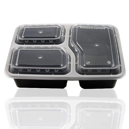 WSS - Juego de 10 recipientes de plástico para alimentos con ...