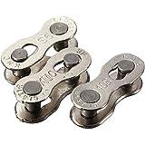 OUTERDO 1 Paire Attaches Rapides Pour chaîne de vélo Vitesse 6s-7s-8s/9s/10s Argent