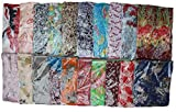 Kuldip Crushed Effect Pashmina Style Scarf Shawl Stole. Mixed designs. (Pack of 100).