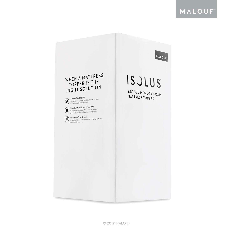 Amazon.com: ISOLUS 2.5 Inch Ventilated Gel Memory Foam Mattress Topper - 3-Year  Warranty - King: Home & Kitchen