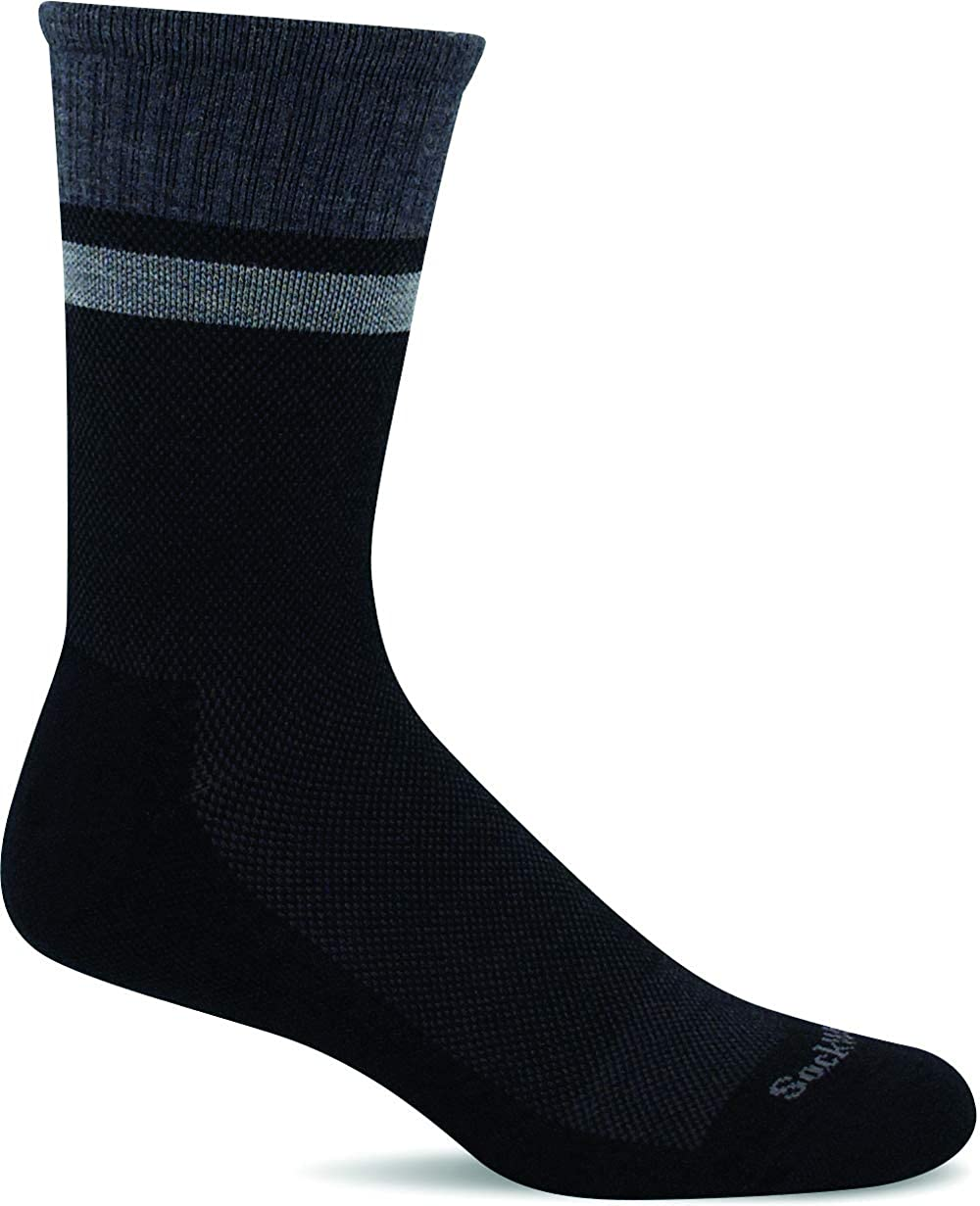 Sockwell Mens Foothold Crew Moderate Graduated Compression Sock