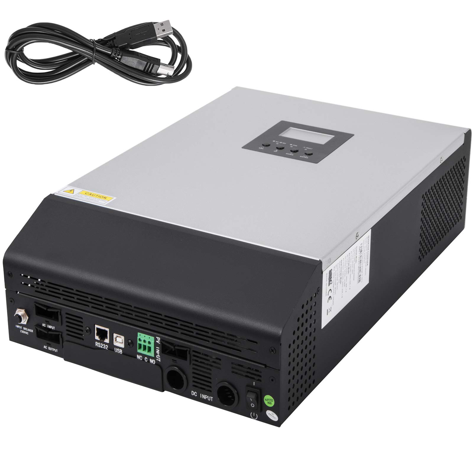 Mophorn Solar Pure Sine Wave Power Inverter 5000W 50A Solar Charger DC 48V AC Output 230V with 60A Utility Charger 50HZ
