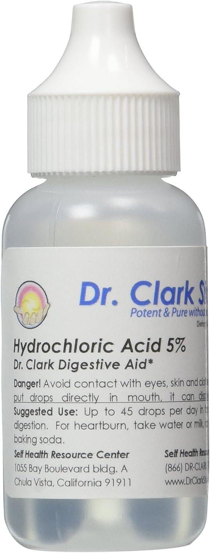Dr Clark Digestive Power! Hydrochloric Acid (HCL) 5%, 1 oz